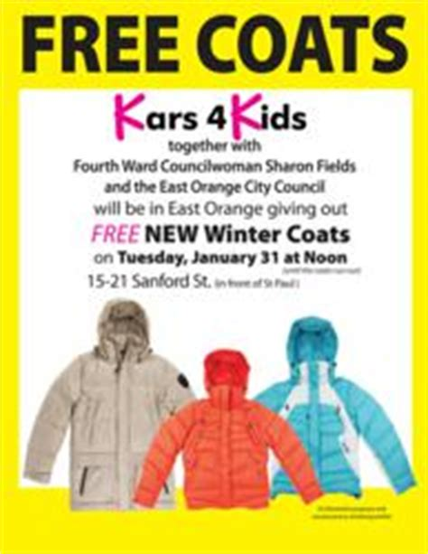 Free Coat Giveaway - kars4kids car donation coat distribution program expands