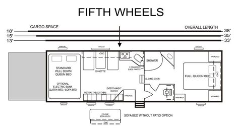 fifth wheel rv floor plans rustic wooden 5th wheel cer floor plans google search