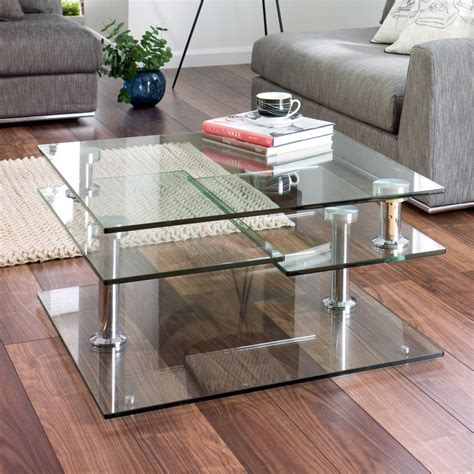 Dwell Sideboard Jacque Extending Glass Coffee Table Clear Dwell