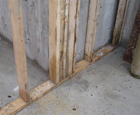 studding basement walls studding a basement wall studding out the basement handy finishing a basement with wood