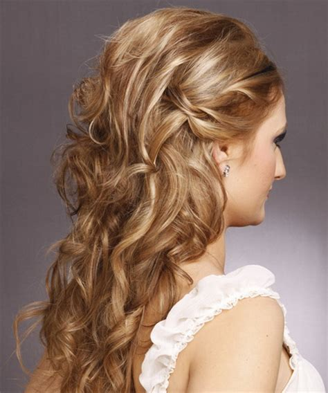 long curly formal hairstyles prom hairstyles curly half up