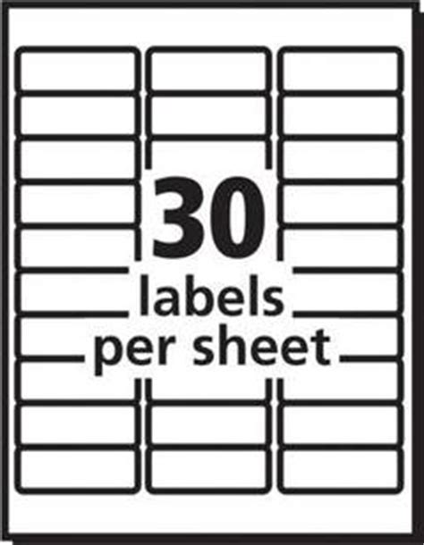office depot label template avery white laser address labels 1 x 2 58 box of 3000 by