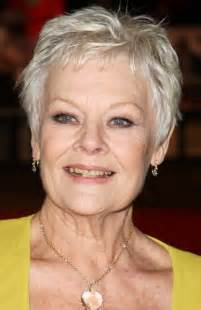 easy hairstyle for 70 year picture of judi dench