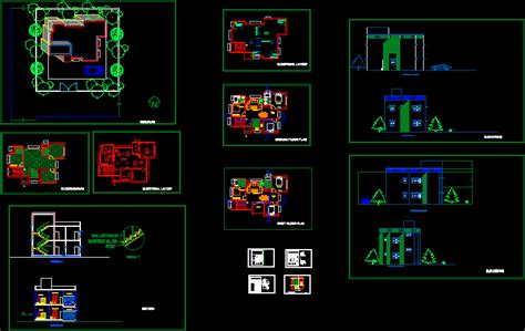 bhk house dwg section  autocad designs cad