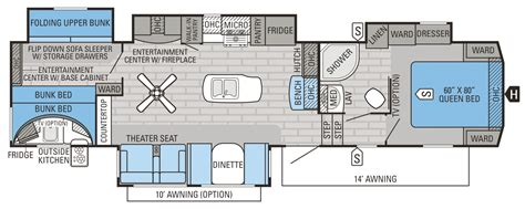 5th wheel cer floor plans 2016 eagle fifth wheel floorplans prices jayco inc