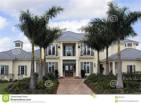 luxury style homes west indies style luxury home stock image image 8624671