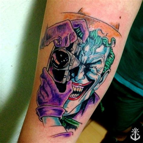 batman and joker tattoo joker the killing joke dc