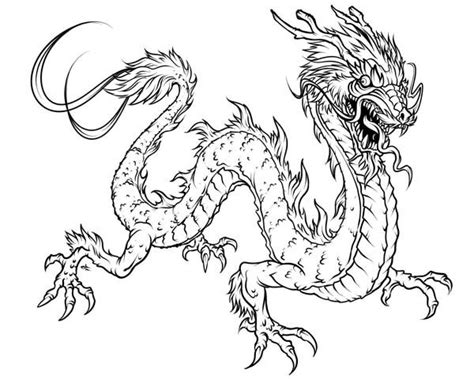 coloring page chinese dragon dragon fearsome chinese dragon coloring page coloring