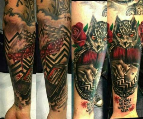 twin peaks tattoos best peaks tattoos artists