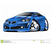 Modern American Muscle Car Cartoon Illustration Stock