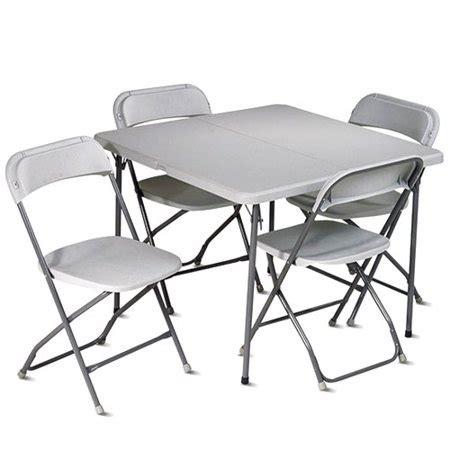 Folding Card Table And Chairs 5 Pc Set by Office Work Smart 5 Folding Table And Chair Set