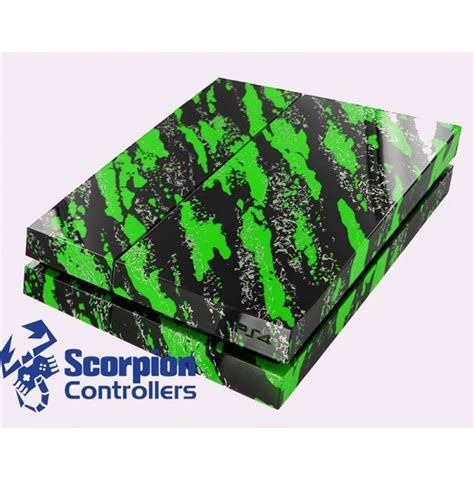 customize ps4 console custom green splatter ps4 console