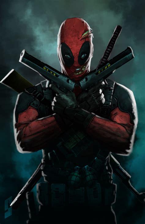 Deadpool By Saadirfan On Deviantart Cool Drawings Of Shooting 2