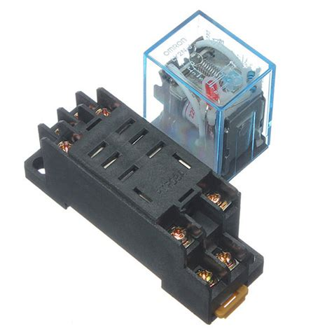 Relay 12v 10a Omron relay ly2nj ac 220v 10a with 8 pin omron ly2nj hh62p jqx
