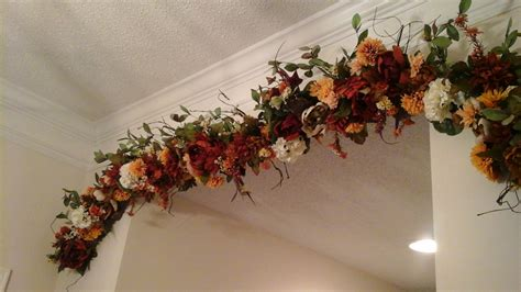 floral garland swag large silk tuscan by giftsbywhatabeautifu