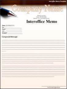 Inter Office Memo Template by Interoffice Memo Template Word Excel Formats