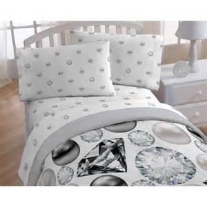 diamonds and pearls bedding sheet set walmart