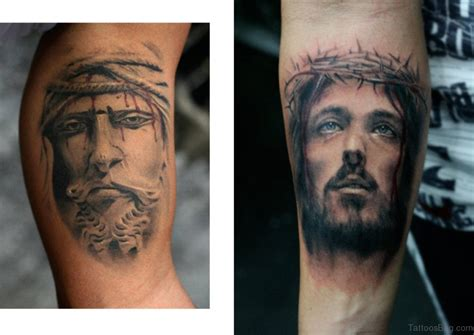 jesus tattoo with arm 72 great looking jesus tattoos for arm