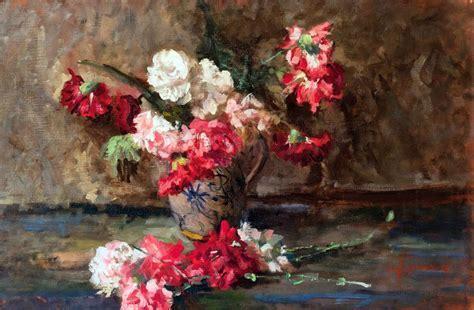 vaso con fiori ambrogio cremonesi vaso con fiori olio su tela