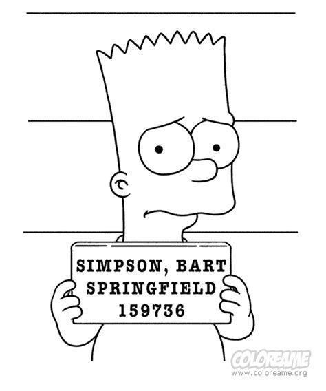imagenes de los simpson para dibujar a lapiz bart simpson para dibujar pintar colorear imprimir