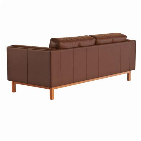 west elm leather sofa west elm dekalb leather sofa 3d model max obj fbx