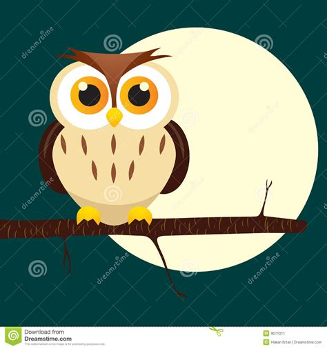 Owl Maxy By Dans owl on tree stock vector image of moon animals