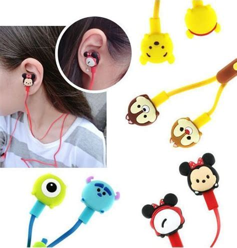Mickey Headset 20 models disney tsum tsum mickey stitch earphone 3