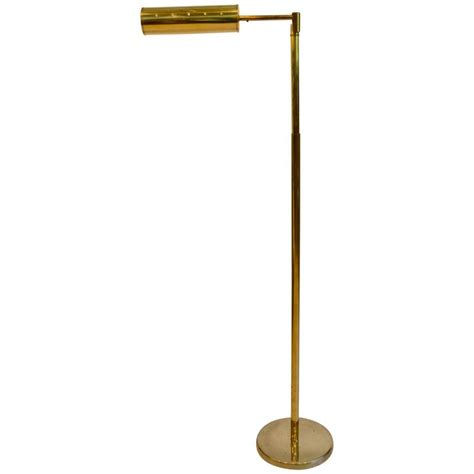 Brass Swing Arm Floor L by Walter Nessen Swing Arm Brass Floor L For Sale At
