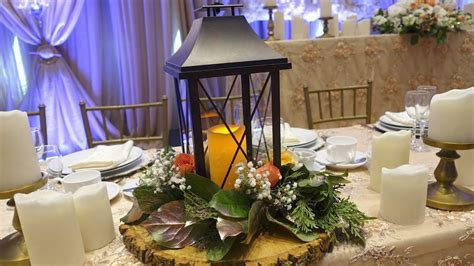 Lantern Table Centrepiece With Fresh Flowers DIY   YouTube