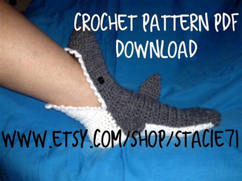 shark socks pattern pdf craft supplies tools patterns tutorials footwear