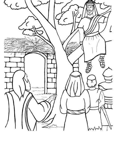 coloring pages zacchaeus tree repentance children s church blastivity