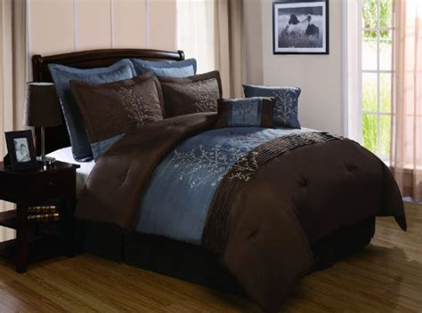 tan and blue bedroom chocolate brown and blue bedding sets