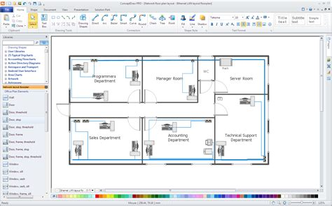 network layout plan computer network diagrams solution conceptdraw