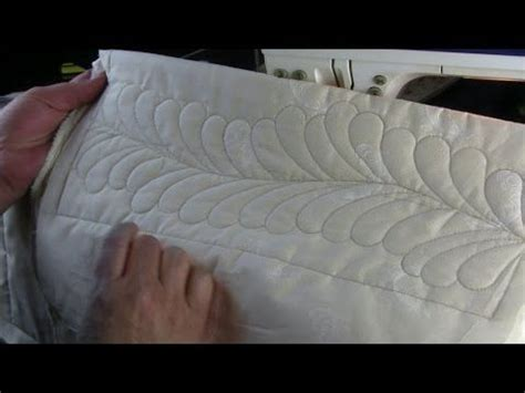 free motion quilting tutorial youtube westalee ruler foot quilting feathers on a domestic
