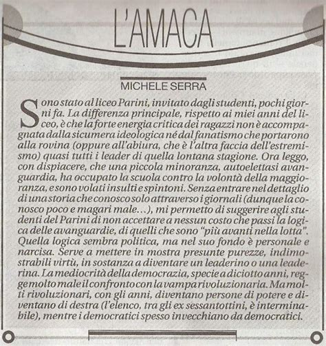 amaca michele serra alternativaperta