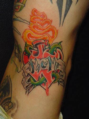 heart mom tattoo designs artistmikemiller designs