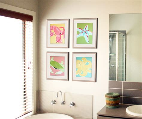 bathroom artwork ideas bathroom art for kids 15 kid friendly bathroom ideas