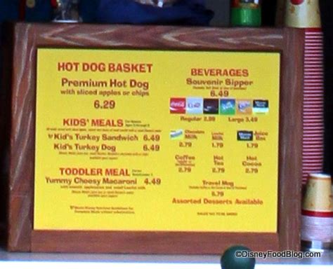dog house restaurant menu mickey s toontown restaurant tour at disneyland the disney food blog