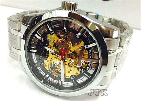 Jam Tangan Pria Cowok Tag Heuer Skeleton Batik Rantai Murah jam tangan tissot skeleton swiss stainless rp 250 000