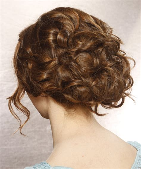 prom hairstyles down back view updo long curly formal updo hairstyle with side swept
