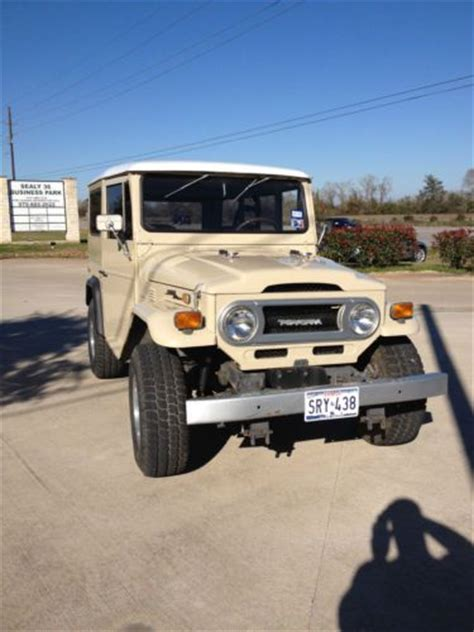 Toyota Sealy Tx Sell Used 1970 Toyota Fj40 Land Cruiser Truck In