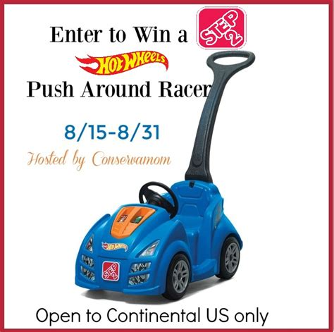Style Watch Giveaways - step2 hot wheels push around racer giveaway ends 8 31 optimistic mommy