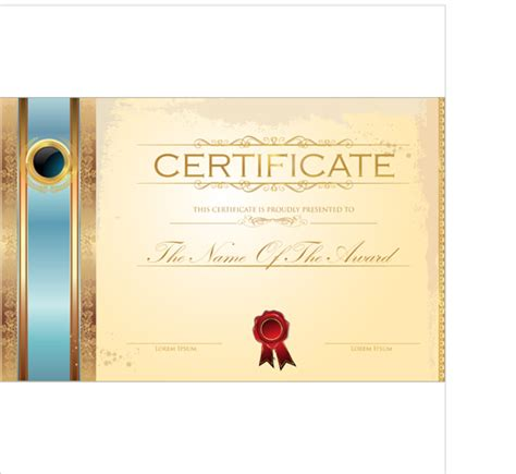 best certificate template design vector 05 vector cover