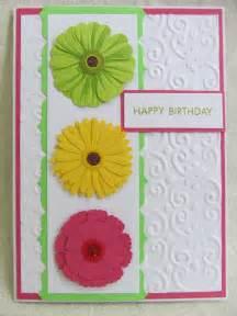 savvy handmade cards zinnia flower happy birthday card