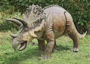 Decor Appliances Massive Triceratops Dinosaur Statue The Green Head