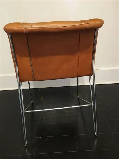 italian leather and chrome dining chairs set of six italian leather and chrome dining chairs at 1stdibs