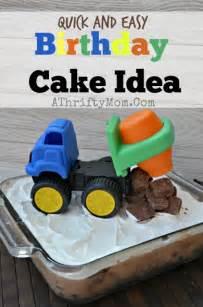 truck birthday theme party quick  easy birthday cake idea boysparty  thrifty mom