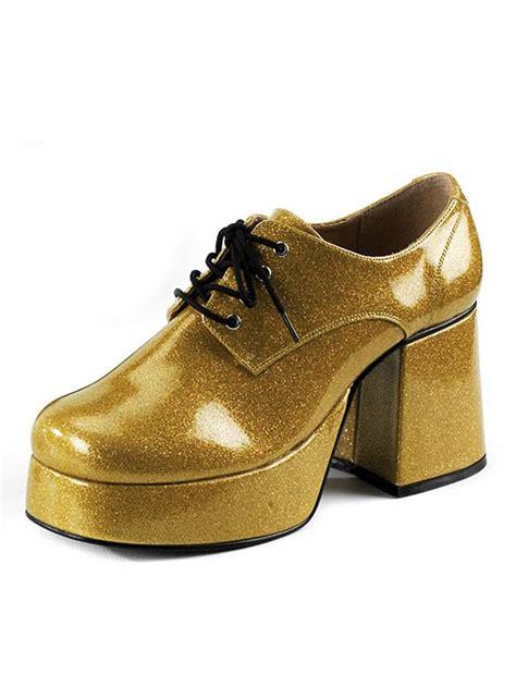 mens 70s boots 70 s platform shoes gold maskworld