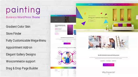 Paint Painting Company Wordpress Theme Themeforest Website Templates And Themes Youtube Themeforest Website Templates Free
