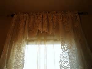 Sale vintage curtains vintage lace swag valance vintage lace